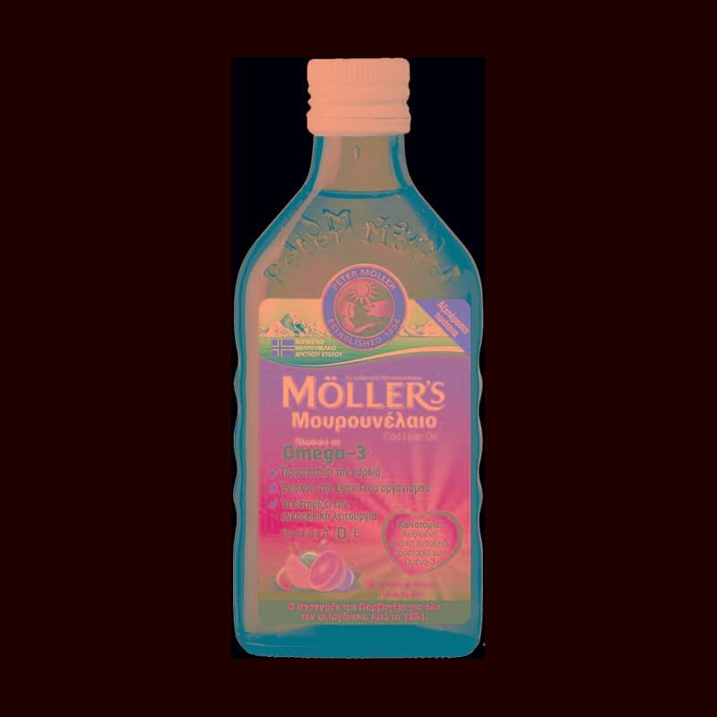 Möller's Μουρουνέλαιο Cod Liver Oil Tutti Frutti Πλούσιο σε Ωμέγα-3 με Βιταμίνες A,D & E με Γεύση Φρούτων 250ml