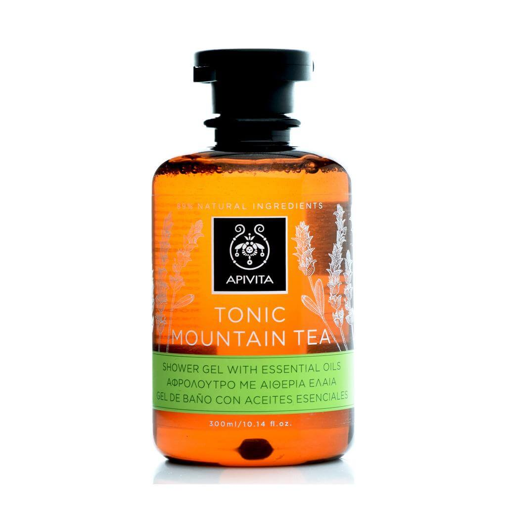 Apivita Tonic Mountain Tea Shower Gel με Αιθέρια Έλαια 300ml