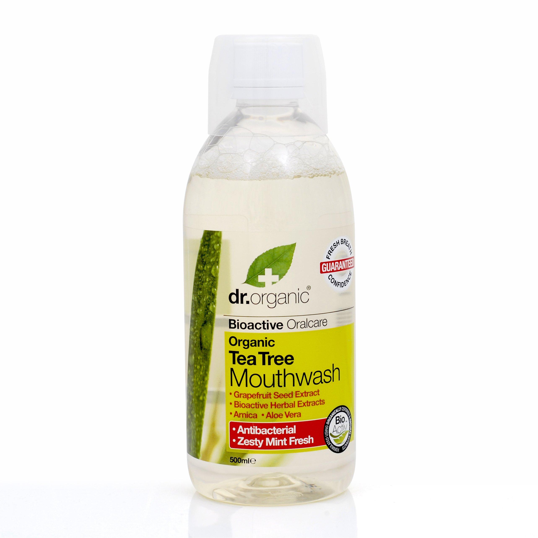 Dr Organic Organic Tea Tree Mouthwash Στοματικό Διάλυμα Με Βιολογικό Τεϊόδεντρο 500ml