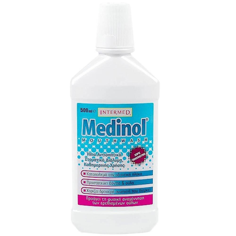 Intermed Medinol Mouthwash Ήπιο Αντισηπτικό, Φθοριούχο, Στοματικό Διάλυμα Καθημερινής Χρήσης 500ml