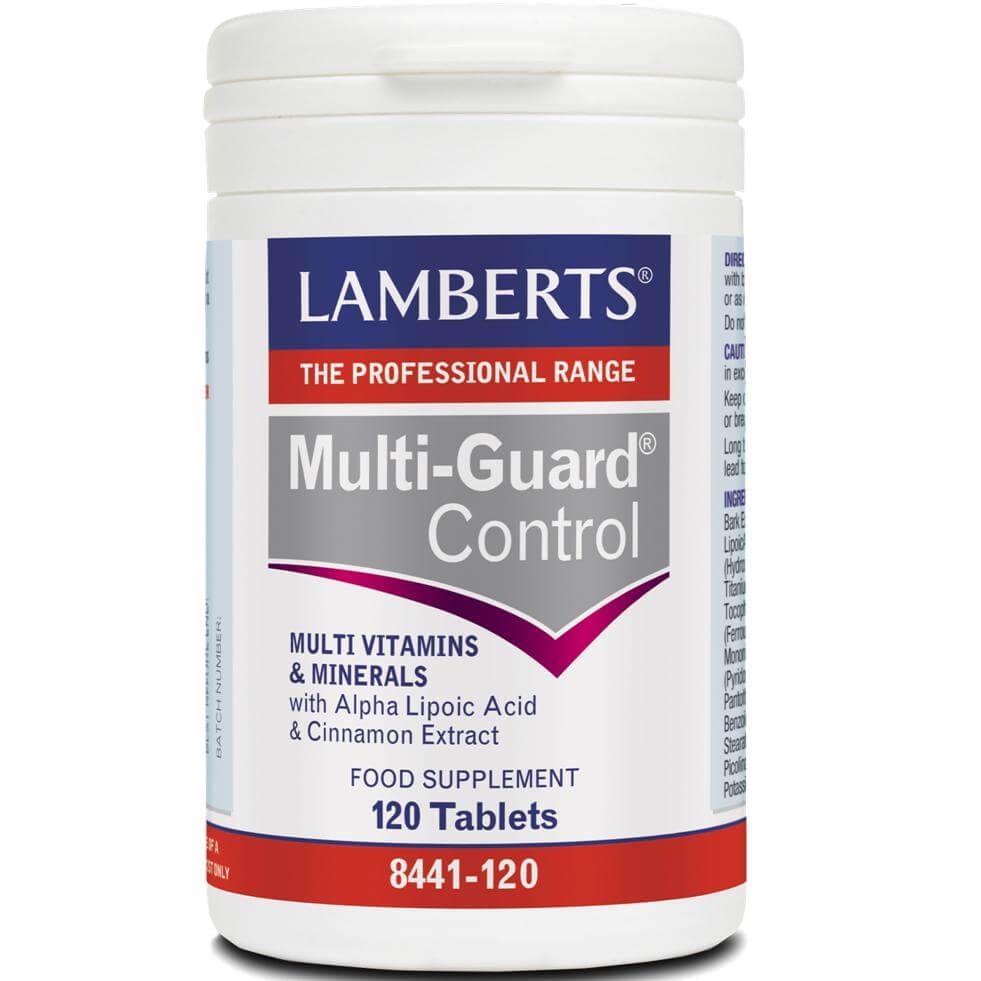 Lamberts Multi-Guard Control Συμπλήρωμα Διατροφήςγια την ΟμαλήΙσορροπίατων ΕνεργειακώνΑποθεμάτων Μεταξύ των Κυρίων Γευμάτων – 120 tabs