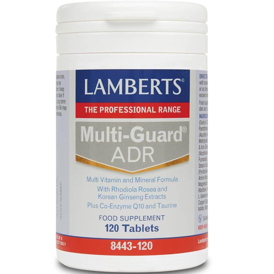 Lamberts Multi-Guard ADR Συμπλήρωμα Διατροφής για την Αντιμετώπιση της Ψυχολογικής και Σωματικής Κόπωσης 120 tabs
