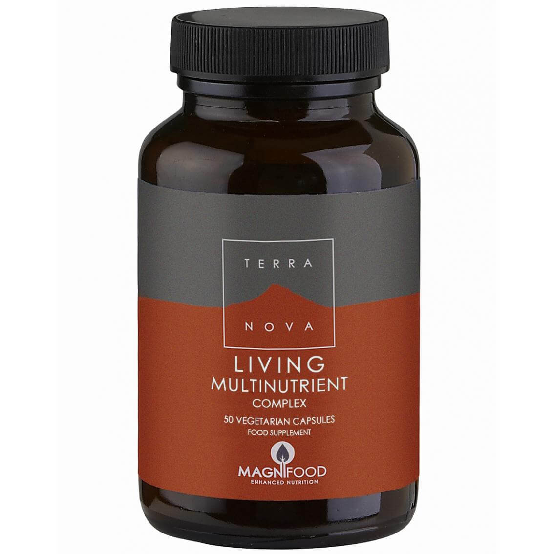Terranova Living Multinutriend Complex Πλούσια Πολυβιταμίνη με 16 Φρέσκιες Ολόκληρες Υπερτροφές 50veg.caps