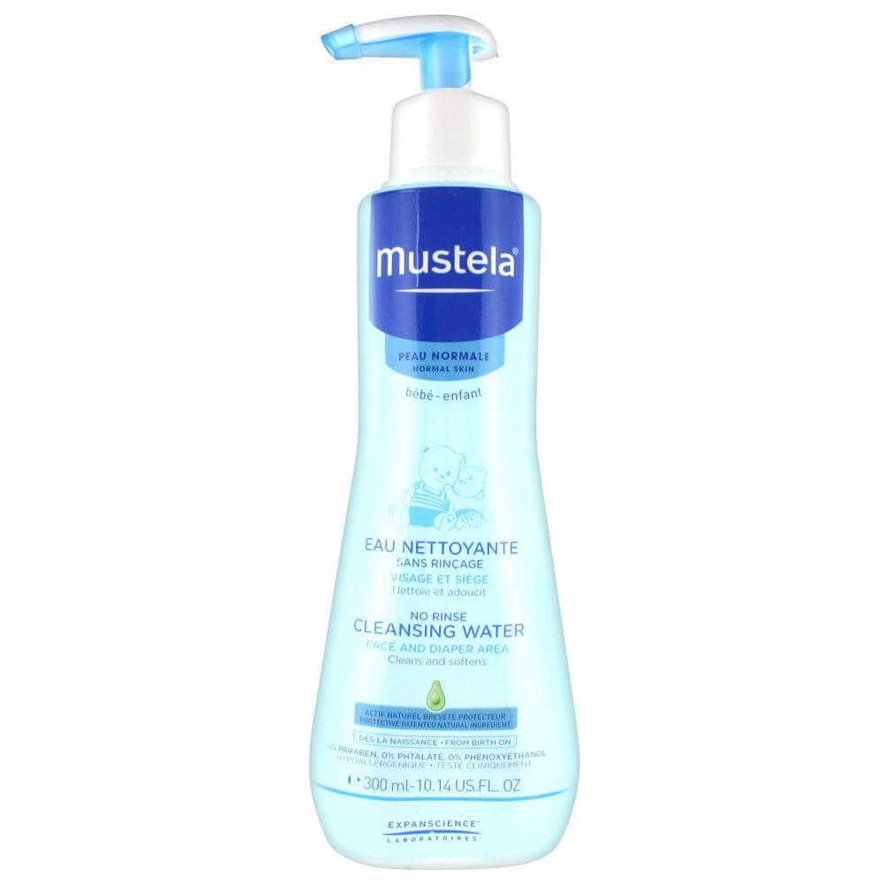 Mustela No-Rinse Cleansing Water Βρεφικό-Παιδικό Καθαριστικό Υγρό Χωρίς Ξέᴨλυμα – 300ml
