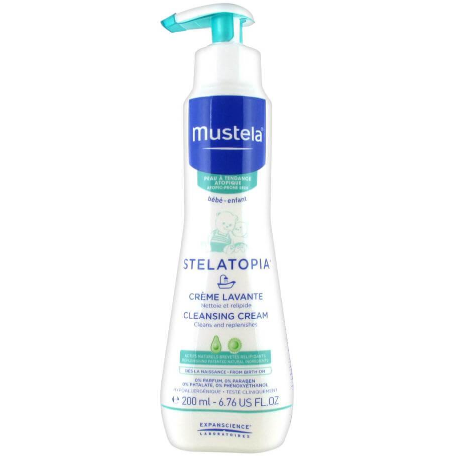 Mustela Stelatopia Creme Lavante Κρέμα Καθαρισμού Προσώπου & Σώματος για Ατοπικό Δέρμα 200ml