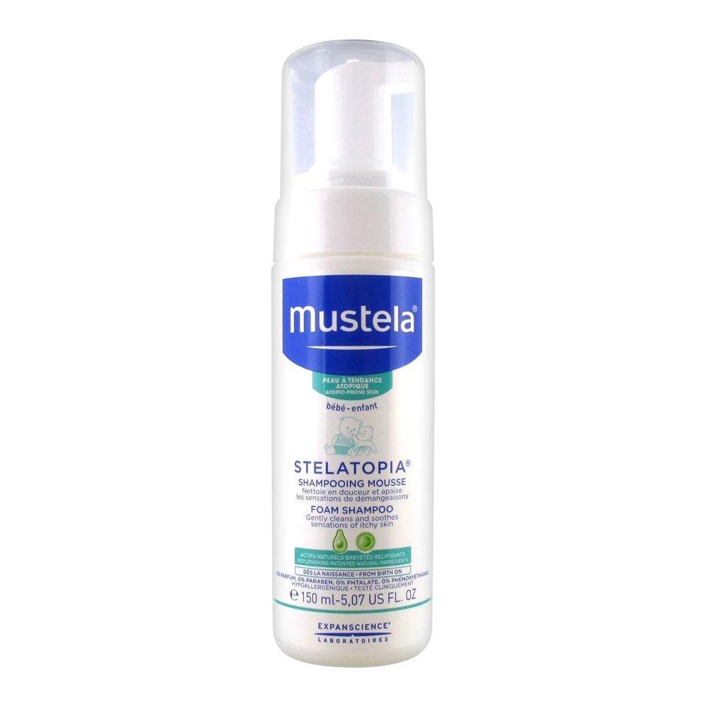 Mustela Stelatopia Foam Shampoo Για τα Ευαίσθητα Μαλλιά του Νεογέννητου 150ml