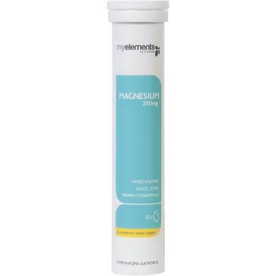 My Elements Magnesium 250mg Συμπλήρωμα Διατροφής για Τόνωση Μυϊκού και Νευρικού Συστήματος, Κράμπες, Άγχος 20 Effer.Tabs