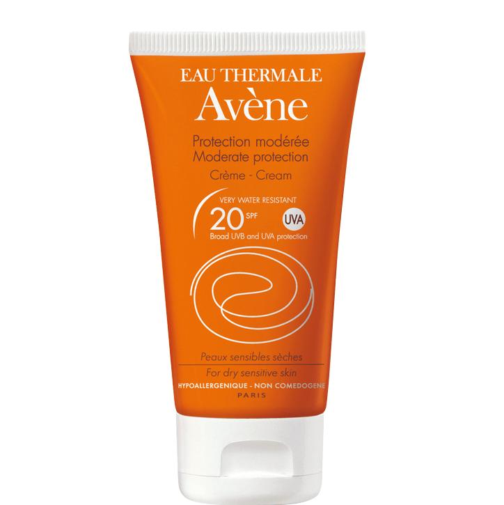 Avene Creme Spf20 Μέτρια Αντηλιακή Προστασία του Ευαίσθητου Ξηρού Δέρματος του Προσώπου 50ml