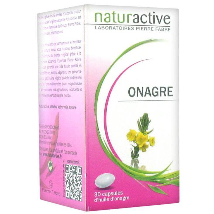 Naturactive Onagre Έλαιο Νυχτολούλουδου, Σύμμαχος των Γυναικών για Ευεξία & Ομορφιά, Αντιμετωπίζει τους Πόνους Περιόδου 30caps
