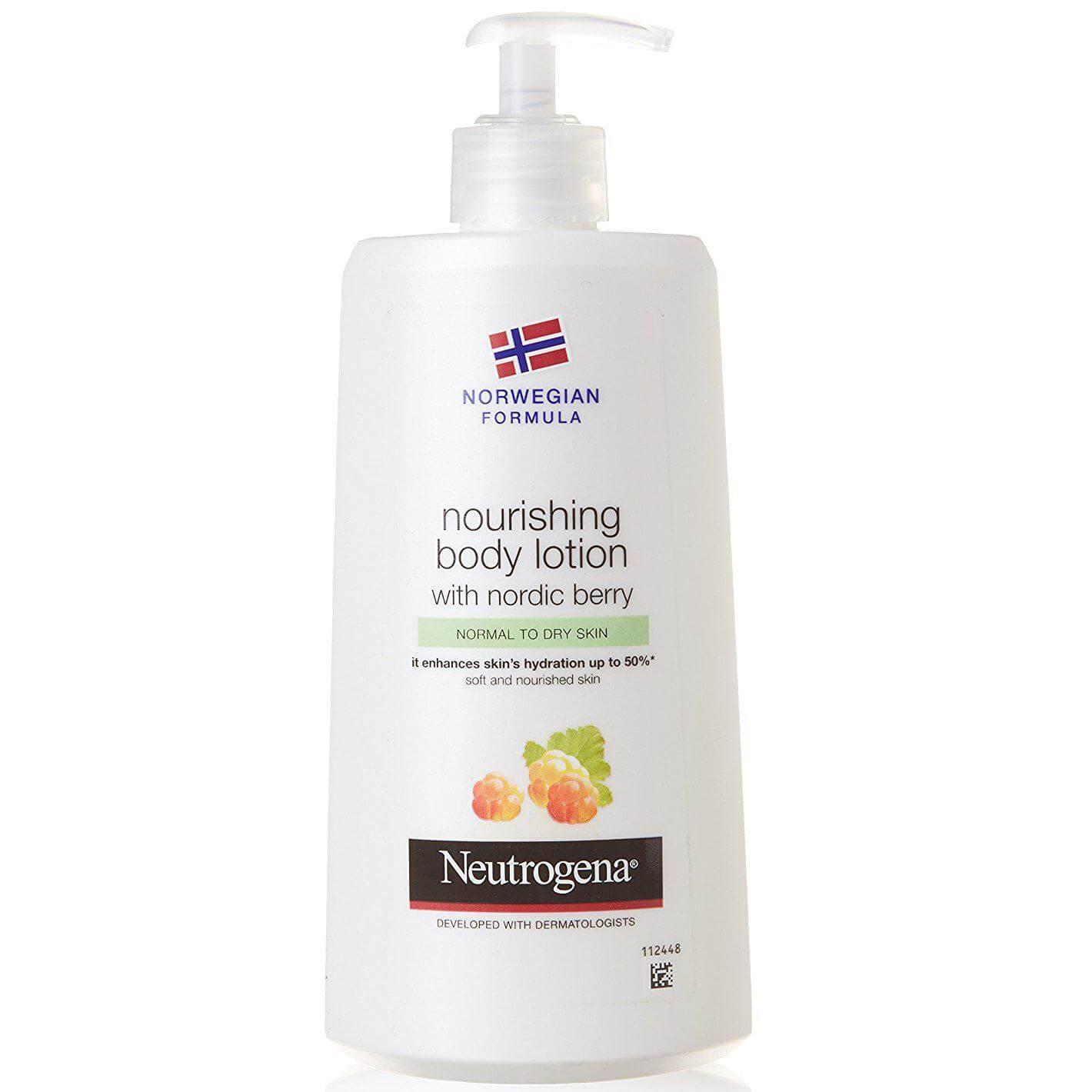 Neutrogena Nourishing BodyLotionΘρεπτικόΓάλακτωμαΣώματοςμε Nordic Berry για Κανονική – Ξηρή Επιδερμίδα 400mlPromo -30%