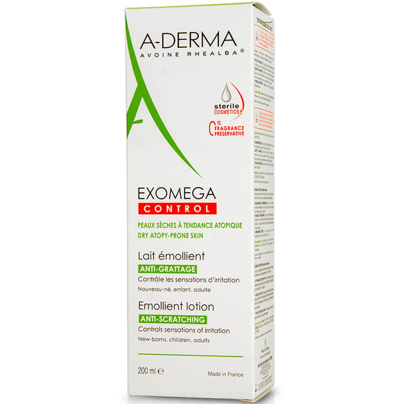 A-Derma Exomega Control Lait Emollient Μαλακτική Φροντίδα για το Ατοπικό & Πολύ Ξηρό Δέρμα με Αίσθηση Δυσανεξίας 200ml