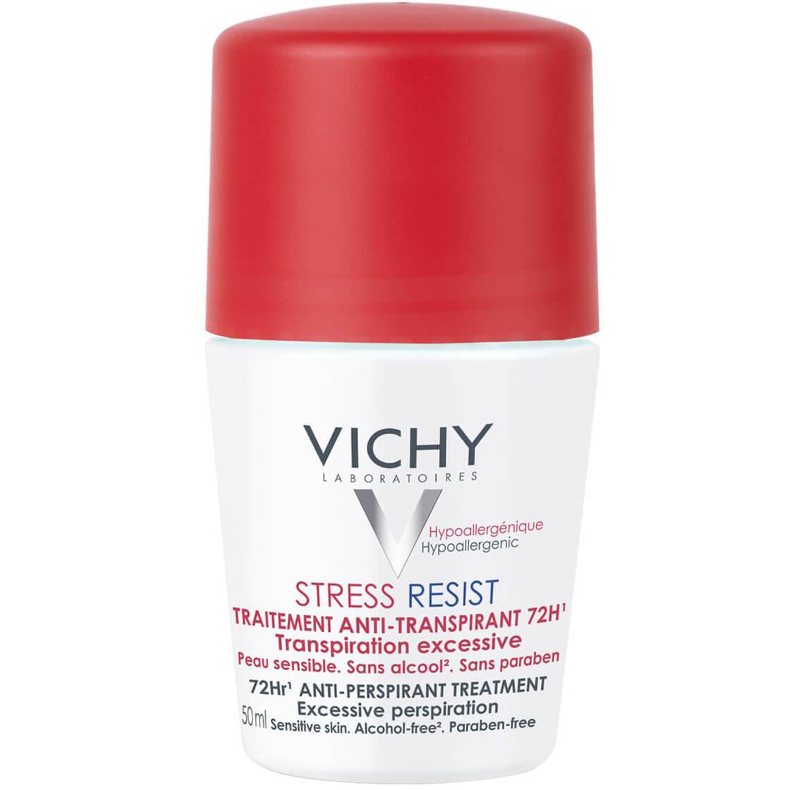 Vichy Deodorant Stress Resist Roll On 72h Εντατική Αποσμητική Φροντίδα 72h Κατά της Έντονης Εφίδρωσης 50ml