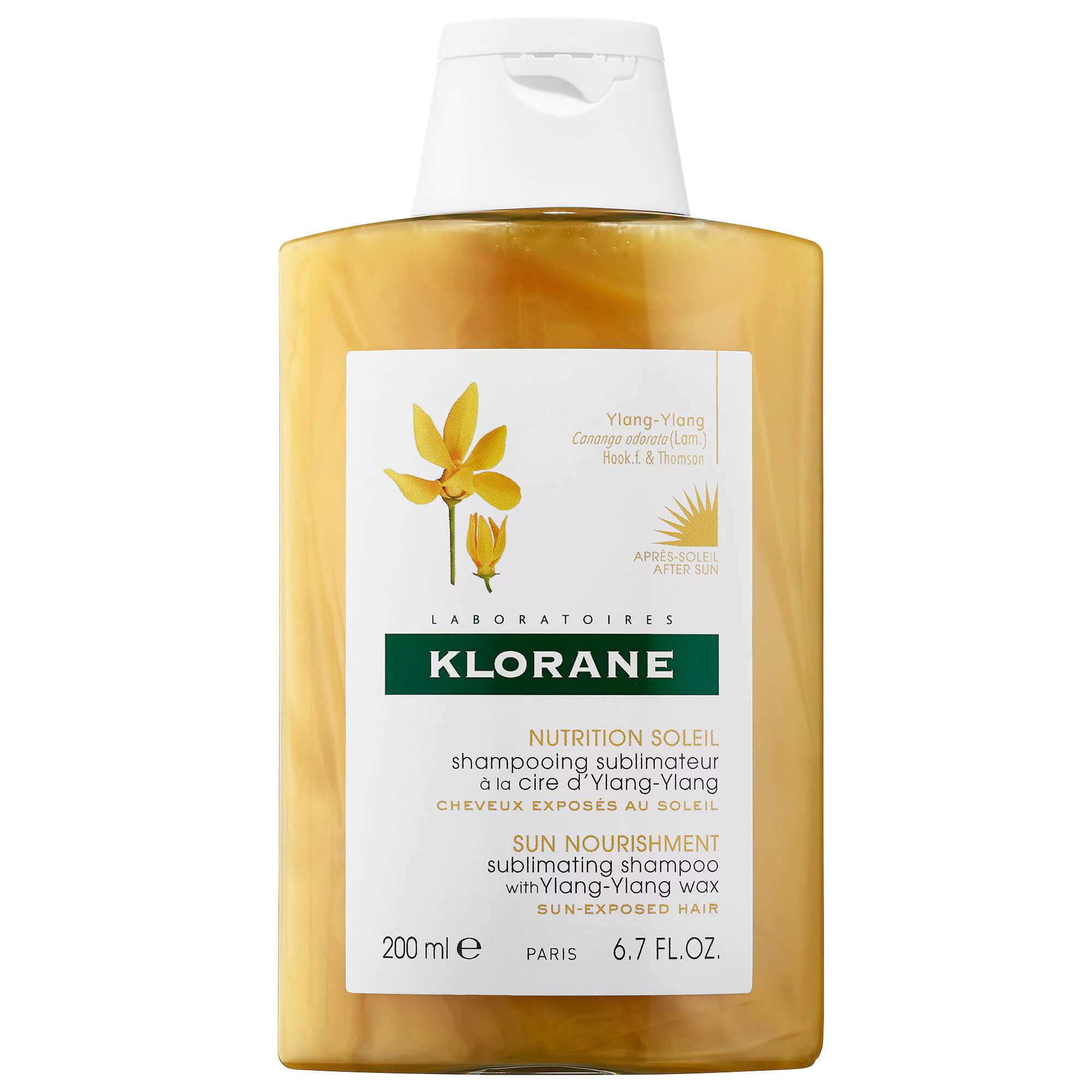 Klorane Shampoo Soin Soleil Ylang Ylang Σαμπουάν Αναδόμησης για Θρέψη & Επανόρθωση Μετά την Έκθεση στον Ήλιο 200ml