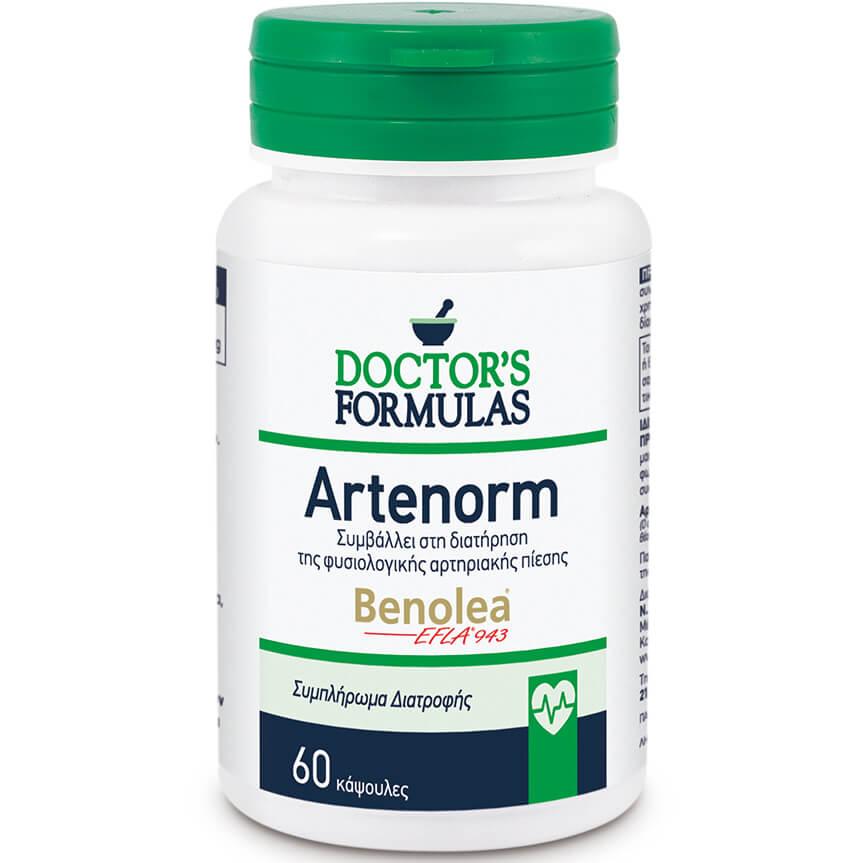 DoctorS Formulas Artenorm Συμπλήρωμα Διατροφής που Συμβάλλει στη Διατήρηση της Φυσιολογικής Αρτηριακής Πίεσης 60 Caps