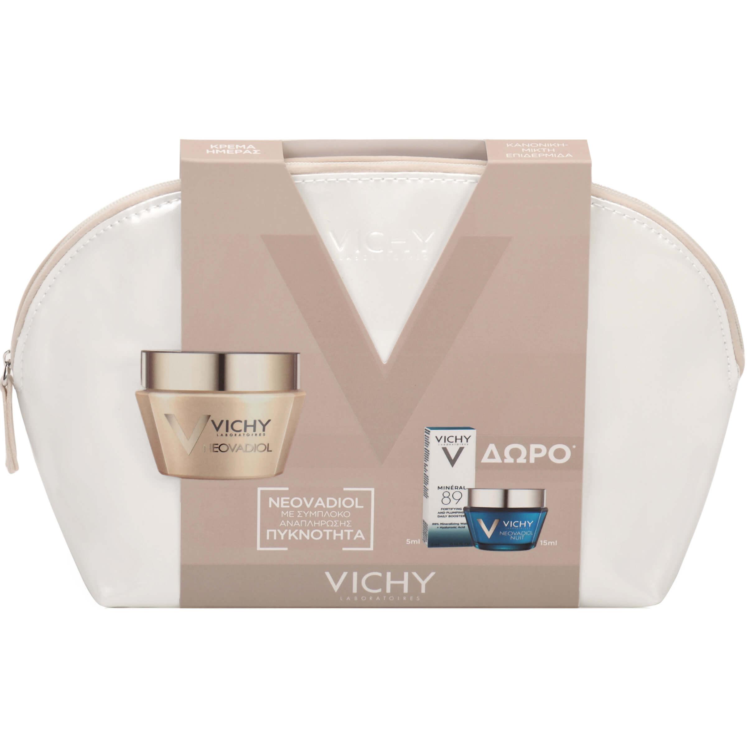 Vichy Πακέτο Προσφοράς Neovadiol Κρέμα Ημέρας για Ξηρές 50ml & Neovadiol Nuit 15ml & Mineral 89 Booster 5ml