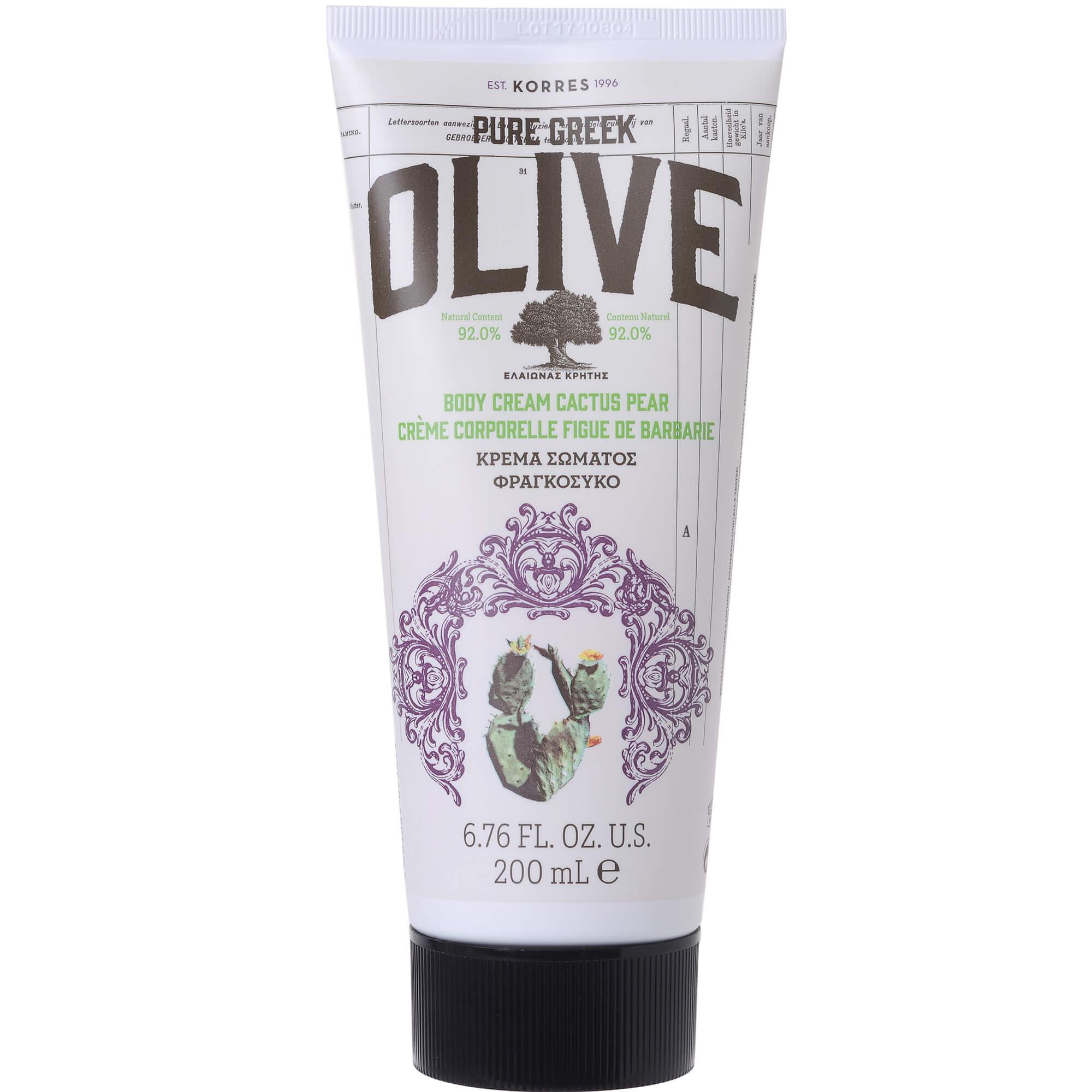 Korres Pure Greek Olive Body Cream Cactus Pear Ενυδατική Κρέμα Σώματος με Φραγκόσυκο 200ml