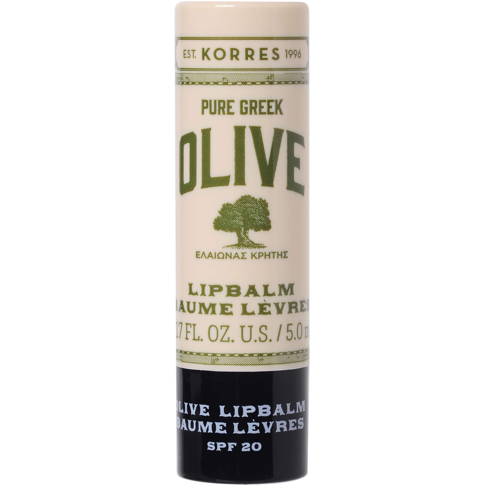 Korres Pure Greek Olive Extra Care Lip Balm Spf20 Θρέψη, Ενυδάτωση στα Ξηρά Σκασμένα Χείλη με Κερί Μελισσών & Έλαιο Ηλίανθου 5ml