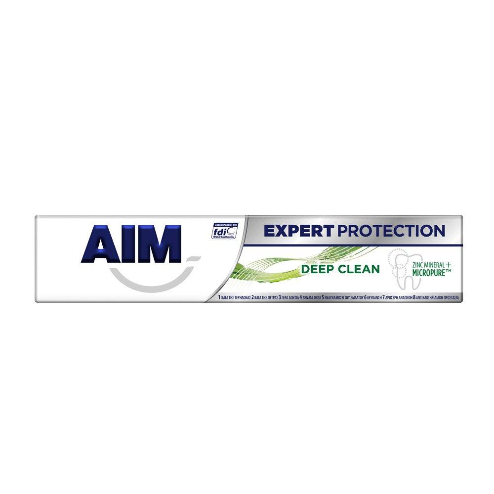 Aim Expert Protection Deep Clean Οδοντόκρεμα για Βαθύτερο Μεσοδόντιο Καθαρισμό & Αντιβακτηριδιακή Προστασία 75ml