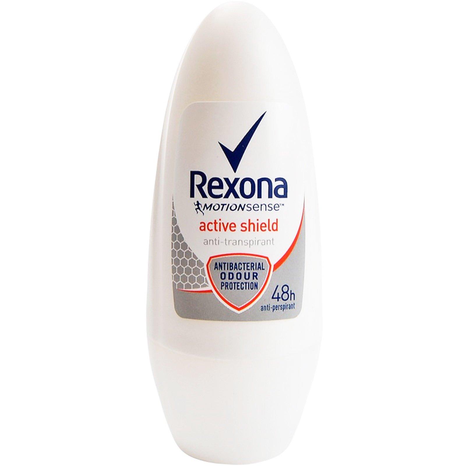 Rexona Anti-Transpirant Roll On Active Shield 48h Αποσμητικό, 48ωρη Προστασία από την Κακοσμία & τα Βακτήρια 50ml