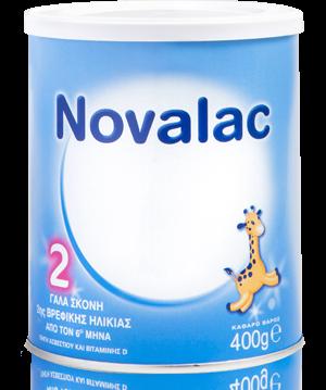 Novalac No 2 Γαλα Σκόνη 2ης Βρεφικής Ηλικίας Απο Τον 6ο Μήνα 400gr