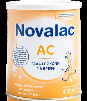 Novalac AC Παρασκεύασμα Για Βρέφη Από Την Γέννηση Εώς τον 12ο Μήνα 400gr