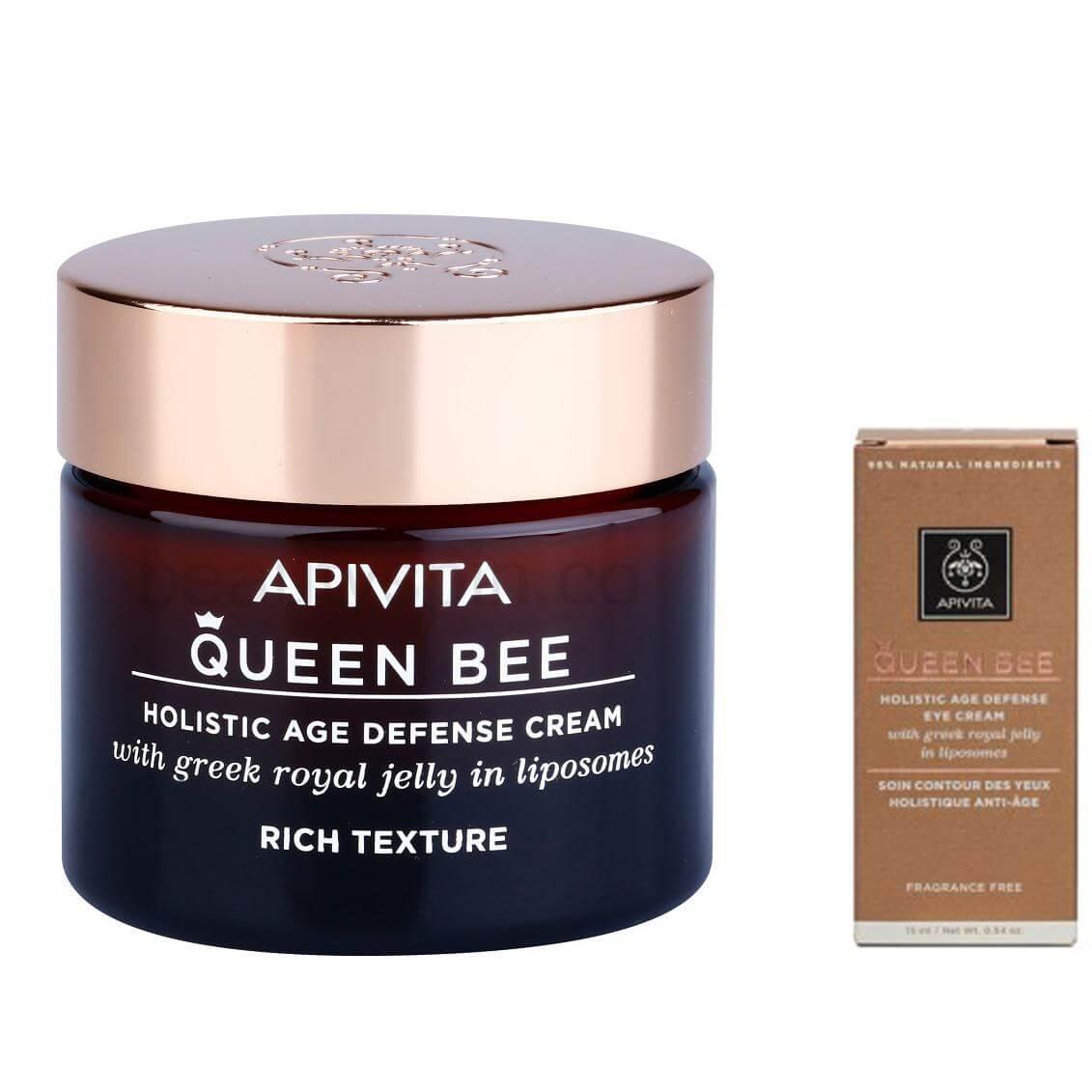 Apivita Πακέτο Προσφοράς Queen Bee Rich Cream Kρέμα Ημέρας Πλούσιας Υφής 50ml &  σετ   εκπτώσεις νοεμβρίου 2016