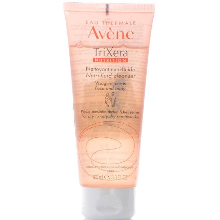 Avene Trixera Nutrition Gel Nettoyant Nutri-Fluide Λεπτόρρευστο Θρεπτικό Καθαριστικό Πρόσωπο-Σώμα για Ευαίσθητο Ξηρό Δέρμα 100ml