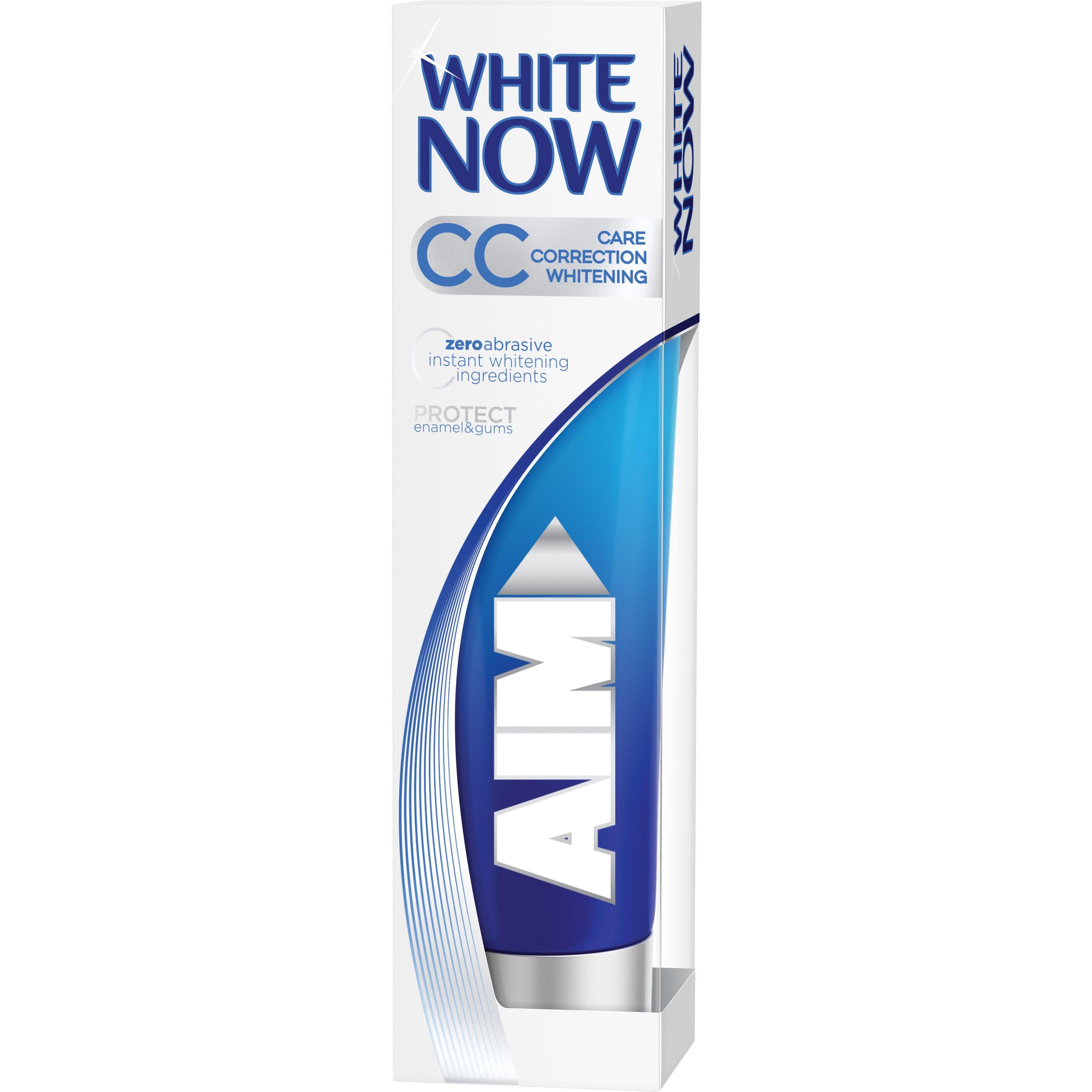 Aim White Now CC Οδοντόκρεμα με Συστατικό Μηδενικής Αποτριβής για Άμεση Λεύκανση,Προστατεύει Σμάλτο & Ούλα 75ml
