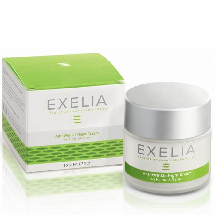 Exelia Anti-Wrinkle Night Cream Αντιρυτιδική Προστασία Για Κανονική Και Ξηρή Eπιδερμίδα 50ml