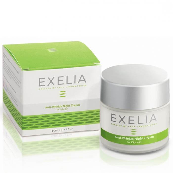 Exelia Anti-Wrinkle Night Cream Αντιρυτιδική Κρέμα Νυκτός Για Λιπαρά Δέρματα 50ml