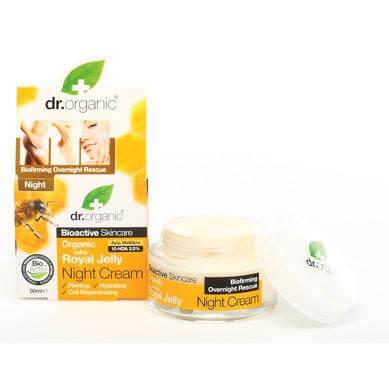 Dr Organic Organic Royal Jelly Night Cream Κρέμα Νύχτας Mε Βιολογικό Βασιλικό Πολτό 50ml