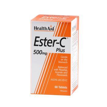 Health Aid Ester C Plus Φυσικά Βιοφλαβονοειδή Ασερόλα Ρουτίνη Και Κουερσετίνη 500mg