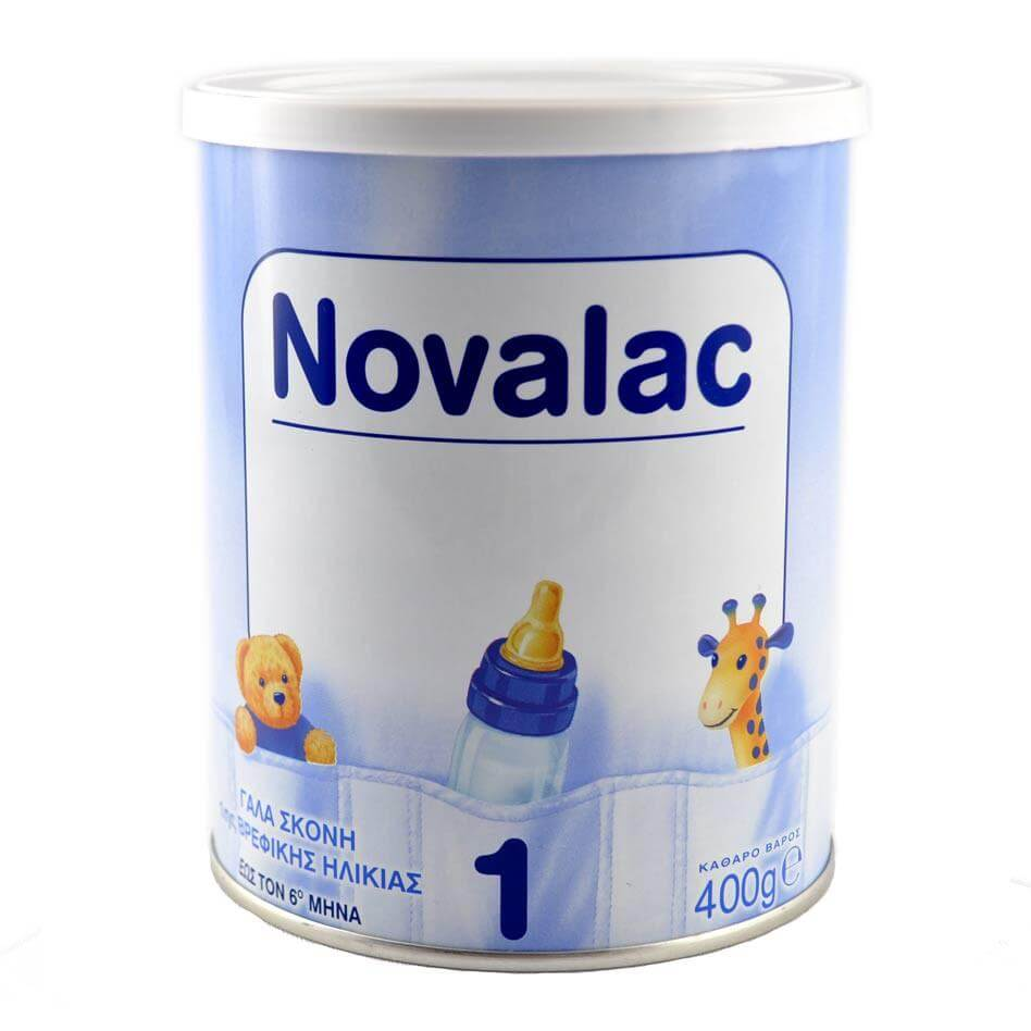 Novalac No1 Γάλα Σκόνη 1ης Βρεφικής Ηλικίας Έως Τον 6ο Μήνα 400gr