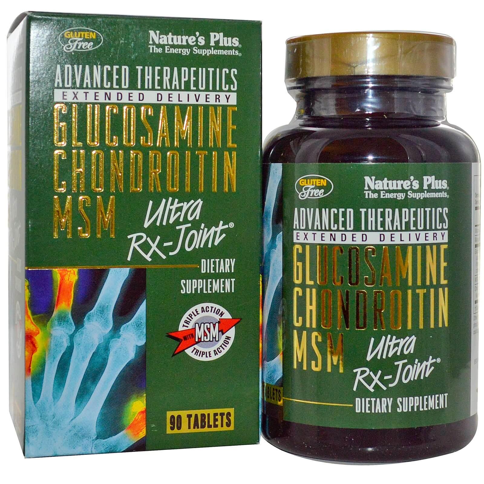 Natures Plus Glucosamine Chondroitin MSM Ultra Rx-JointΣυμπλήρωμα Διατροφής για την Υγεία των Αρθρώσεων 90 Tabs