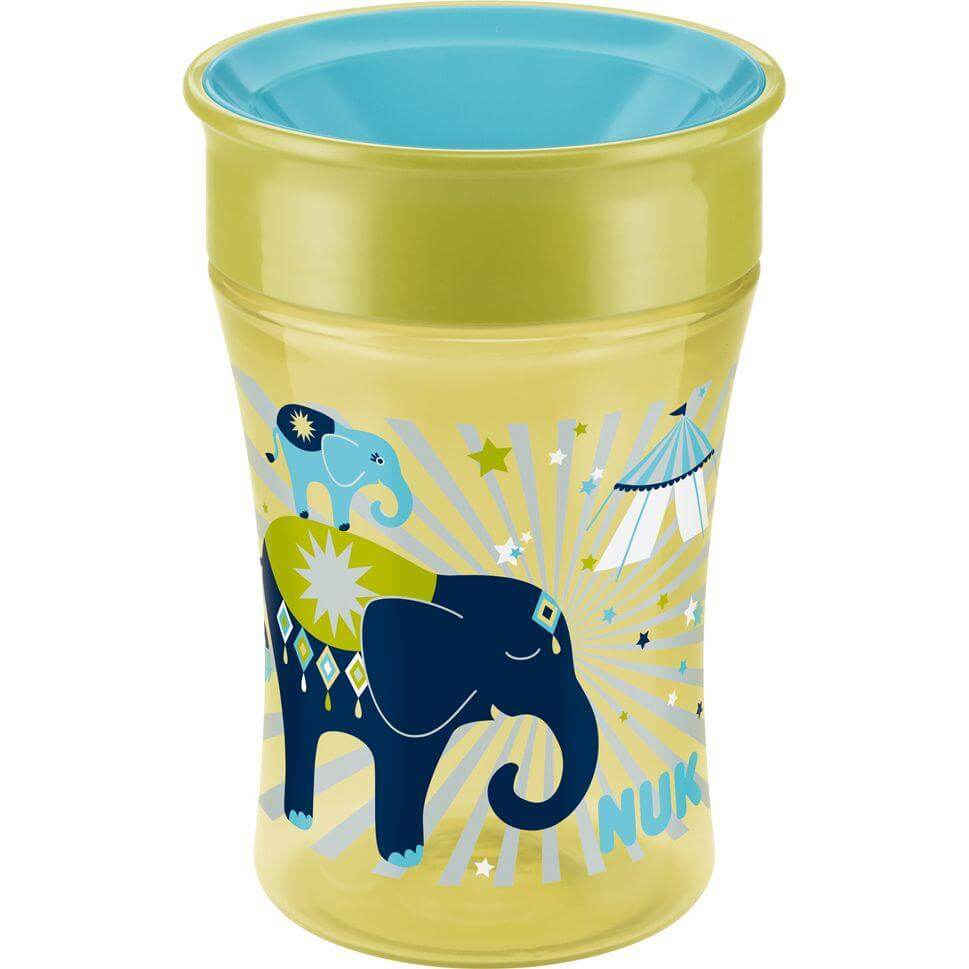 Nuk Magic Cup Ποτήρι Εκπαίδευσης Πολυπροπυλενίουμε Καινοτόμο Χείλος 8+m BPA Free 250ml – γαλάζιο