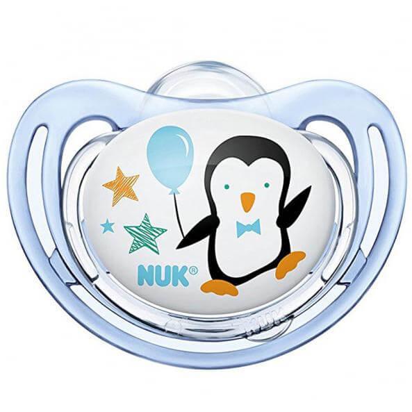 Nuk FreestyleΠιπίλα Σιλικόνης με Κρίκο Χωρίς BPA – Μέγεθος 2 (6-18 μηνών)