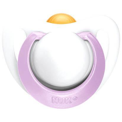 Nuk Genius Orthodontic SootherΠιπίλα Καουτσούκ με Κρίκο για Μικρόσωμα Νεογέννητα 0-2 Μηνών Χωρίς BPA – μωβ