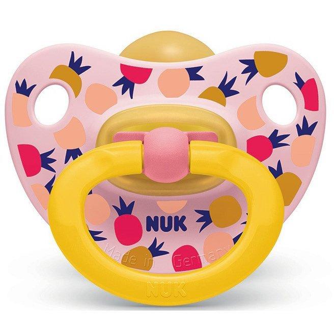 Nuk Classic Happy Kids Πιπίλα απο Καουτσούκ με Κρίκο Μεγέθους 3 (18-36 Μηνών) 1τμχ