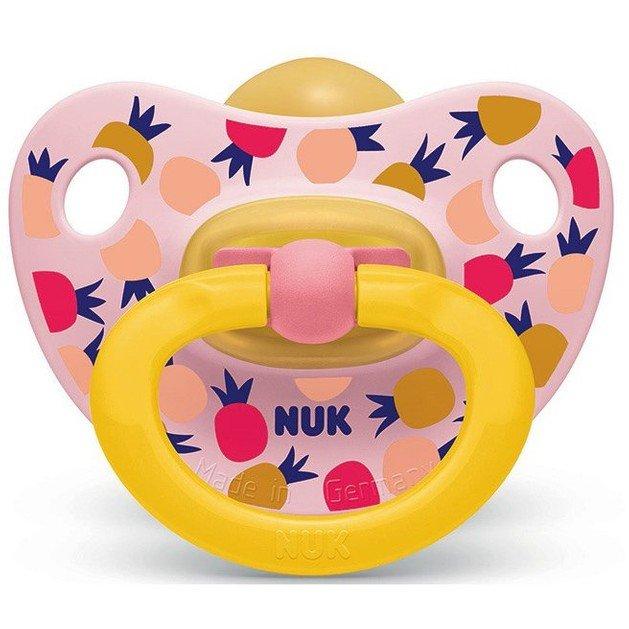 Nuk Classic Happy Kids Πιπίλα απο Καουτσούκ με Κρίκο Μέγεθος 2 (6-18) Μηνών 1τμχ