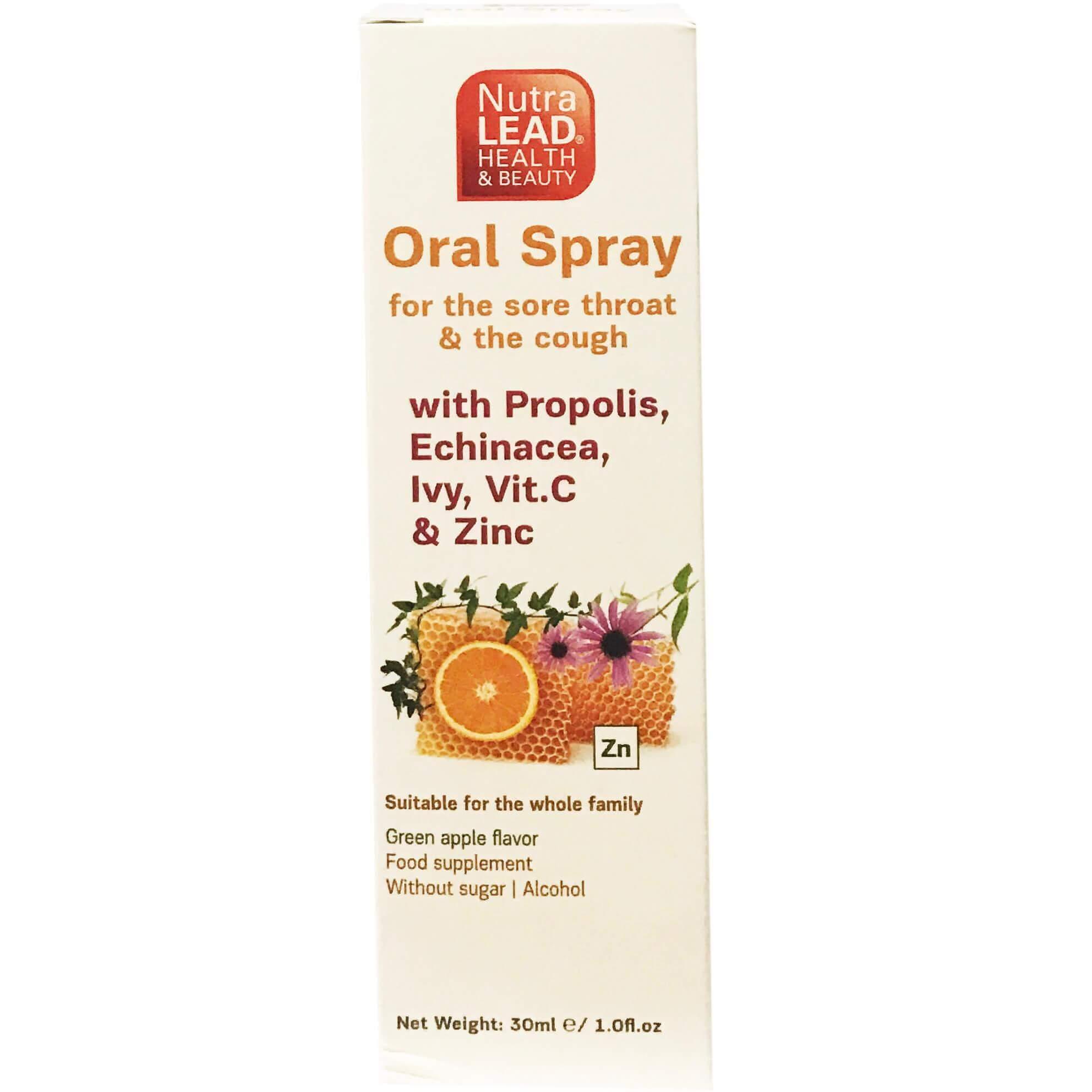 Nutralead Oral SprayΣτοματικό Sprayγια τον Ερεθισμένο Λαιμό & το Βήχα 30ml