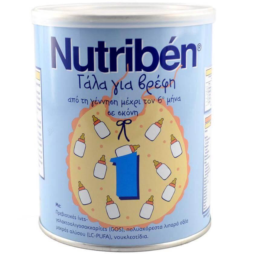 Nutriben 1 Γάλα Για Βρέφη Απο Την Γέννηση 0 – 6 Μηνών 400gr