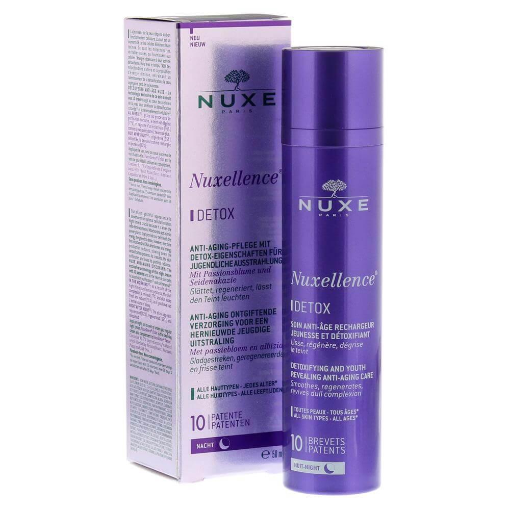 Nuxe Nuxellence Detox Αντιγηραντική Κρέμα-Ορός Νύχτας για Όλους τους Τύπους Επιδερμίδας 50ml
