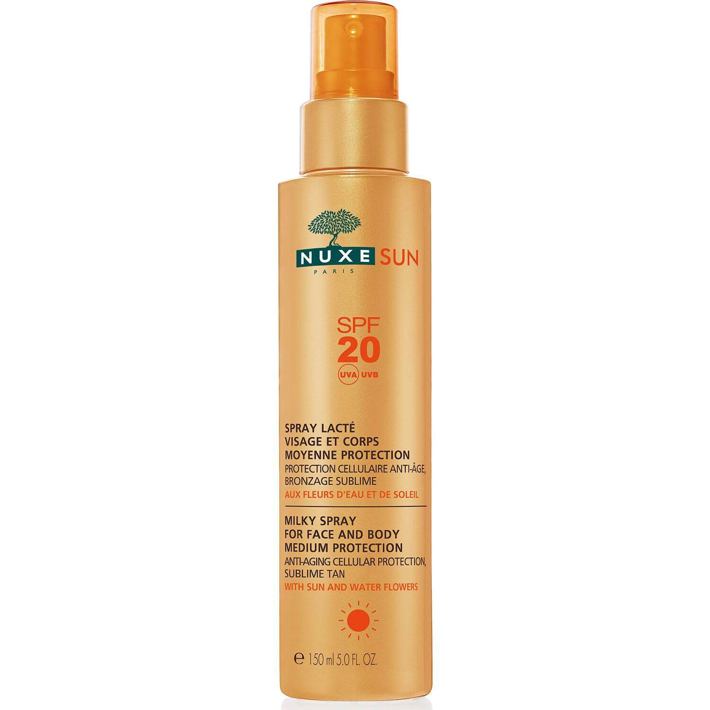 Nuxe Sun Milky Spray Αντηλιακό Γαλάκτωμα για Πρόσωπο & Σώμα Spf20 σε Ειδική Τιμή 150ml