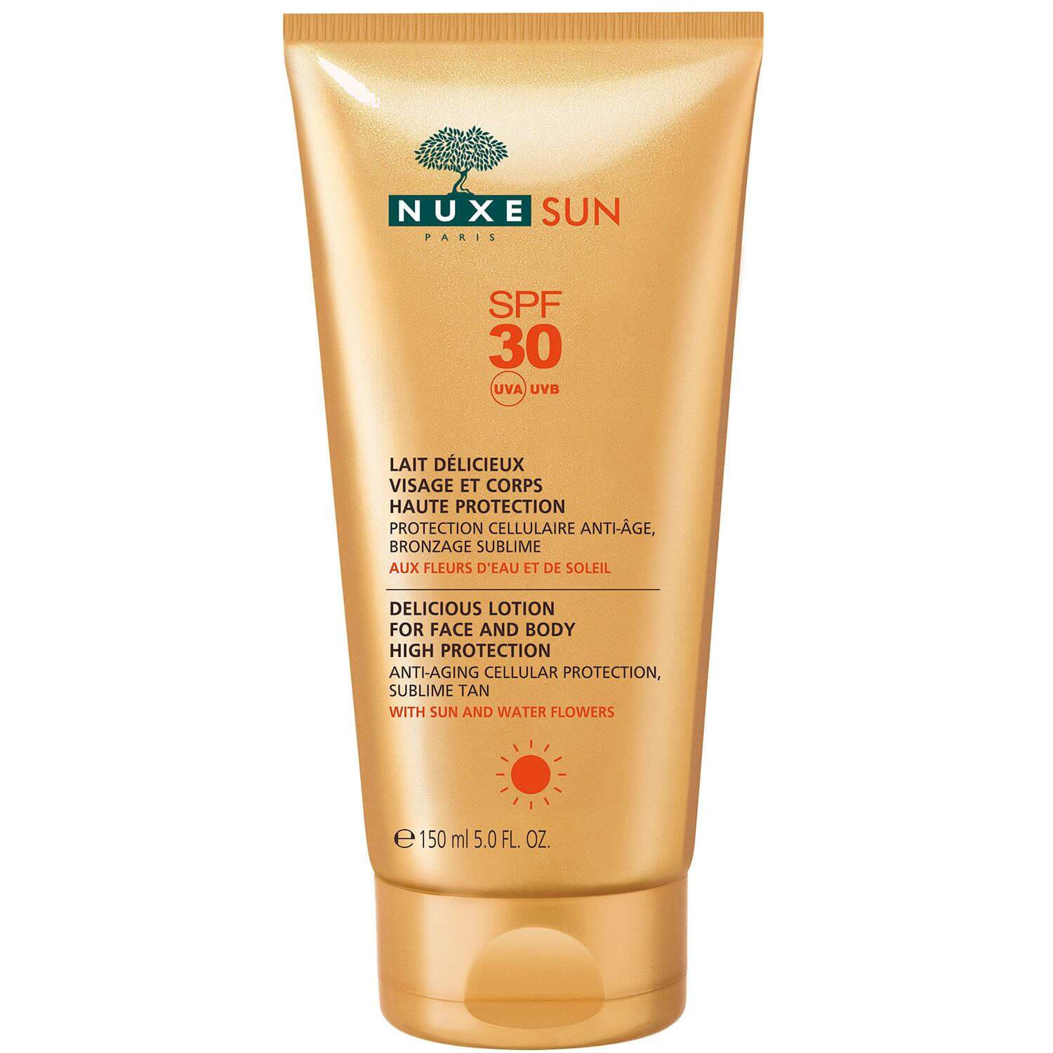 Nuxe Sun Milky Lotion for Face & Body Αντηλιακό Γαλάκτωμα για Πρόσωπο & Σώμα Spf30 150ml