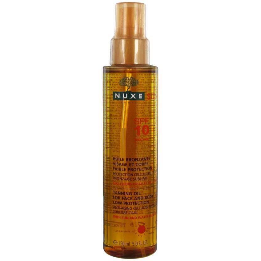 Nuxe Sun Tanning Oil – Λάδι Μαυρίσματος για Πρόσωπο & Σώμα Spf10 σε Ειδική Τιμή 150ml