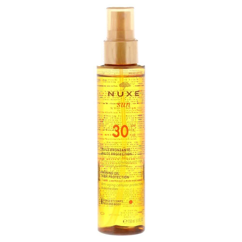 Nuxe Sun Tanning Oil Λάδι Μαυρίσματος για Πρόσωπο & Σώμα Spf30 150ml Promo -20%