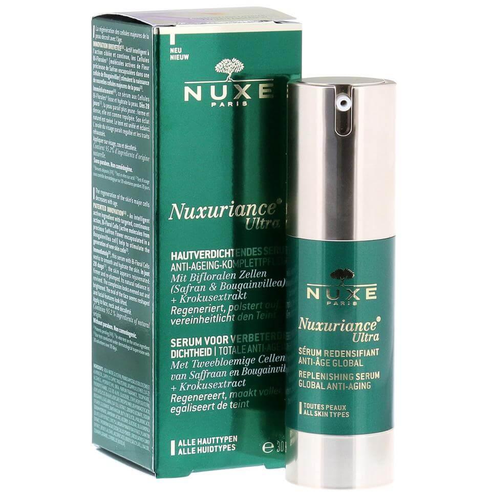 Nuxe Nuxuriance Ultra Serum Ορός Ολικής Αντιγήρανσης για Όλους τους Τύπους Δέρματος Επαναφέρει τη Πυκνότητα της Επιδερμίδας 30ml