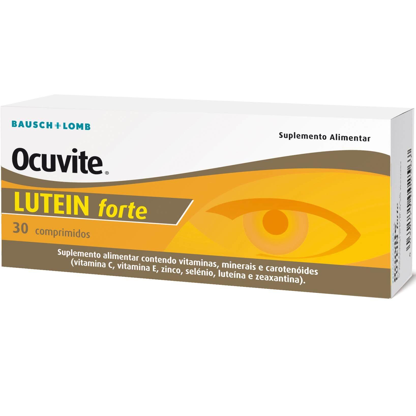 Bausch & Lomb Ocuvite Lutein Forte Συμπλήρωμα Διατροφής με Βιταμίνες, Ιχνοστοιχεία και Καροτινοειδή 30 Tabs