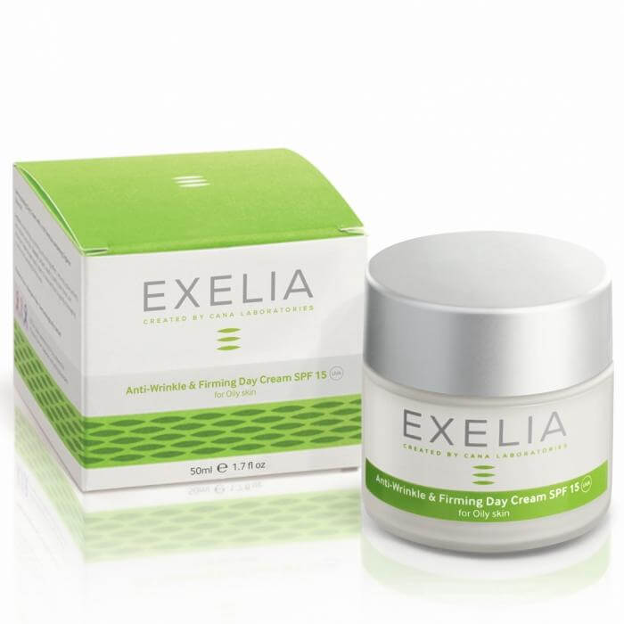 Exelia Anti-Wrinkle & Firming Day Cream SPF 15 UVA Αντιρυτιδική Προστασία Για Λιπαρές Επιδερμίδες 50ml