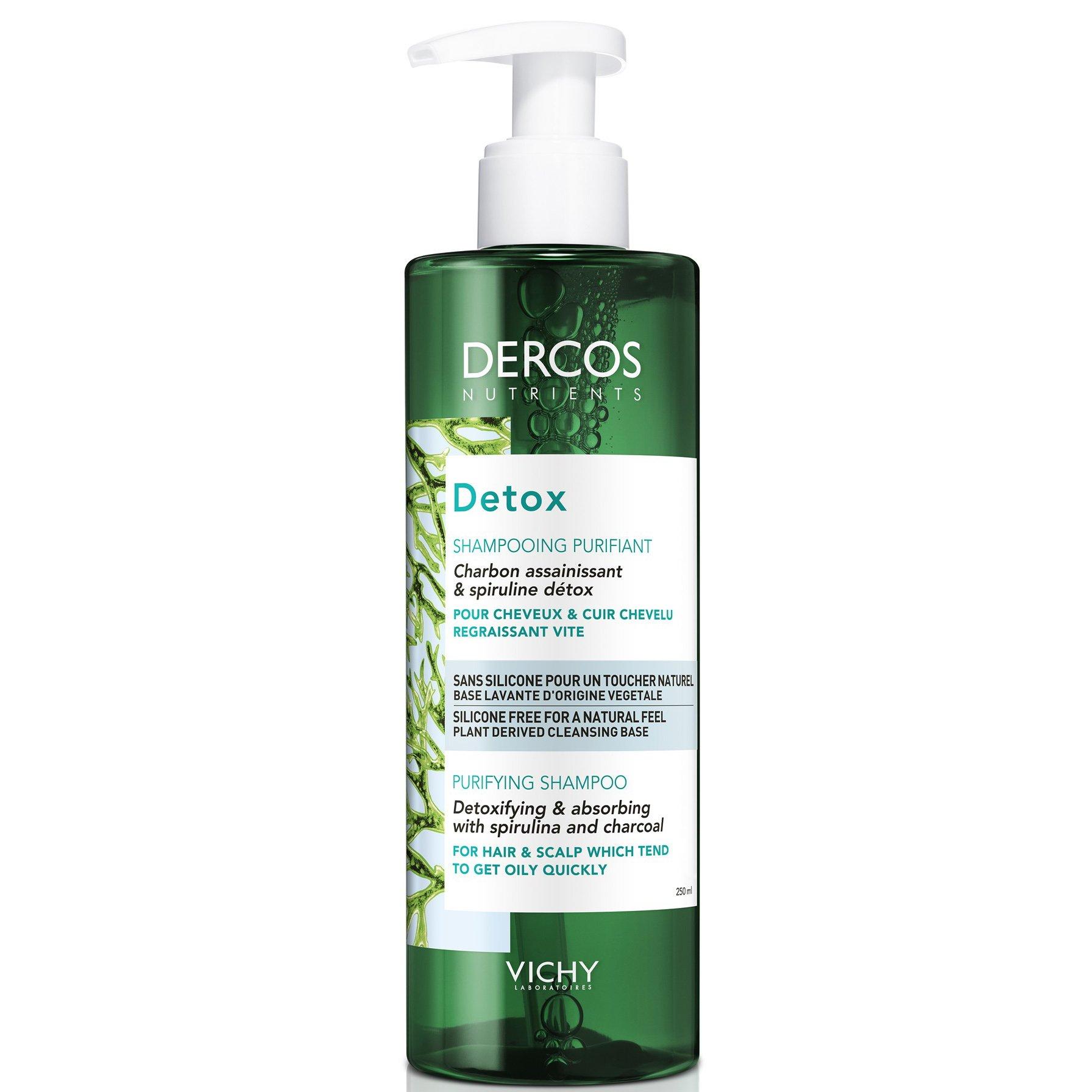 Vichy Dercos Nutrients Dedox Shampooing Purifiant Εξισορροπητικό Σαμπουάν Αποτοξίνωσης για Λιπαρά Μαλλιά & Τριχωτό 250ml